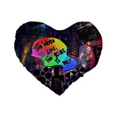 Panic! At The Disco Galaxy Nebula Standard 16  Premium Flano Heart Shape Cushions by Samandel