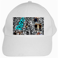 Panic! At The Disco College White Cap by Samandel