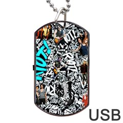 Panic! At The Disco College Dog Tag Usb Flash (two Sides) by Samandel
