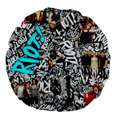 Panic! At The Disco College Large 18  Premium Round Cushions by Samandel