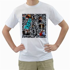 Panic! At The Disco College Men s T Shirt (white)  by Samandel