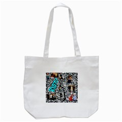 Panic! At The Disco College Tote Bag (white) by Samandel