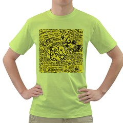 Panic! At The Disco Lyric Quotes Green T Shirt by Samandel