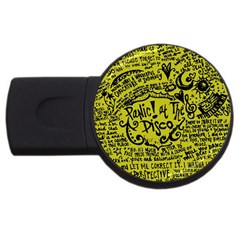 Panic! At The Disco Lyric Quotes Usb Flash Drive Round (2 Gb) by Samandel