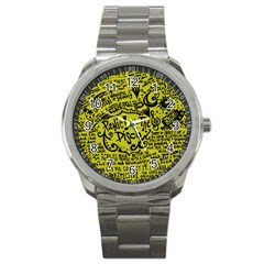 Panic! At The Disco Lyric Quotes Sport Metal Watch by Samandel