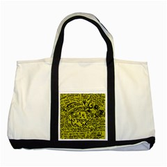 Panic! At The Disco Lyric Quotes Two Tone Tote Bag by Samandel