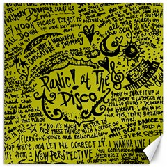 Panic! At The Disco Lyric Quotes Canvas 20  X 20   by Samandel