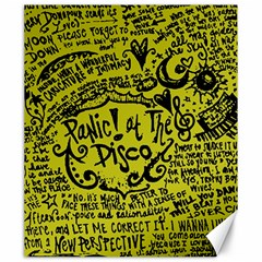 Panic! At The Disco Lyric Quotes Canvas 20  X 24   by Samandel