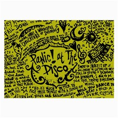 Panic! At The Disco Lyric Quotes Large Glasses Cloth (2 Side) by Samandel