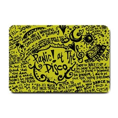 Panic! At The Disco Lyric Quotes Small Doormat  by Samandel