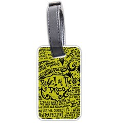 Panic! At The Disco Lyric Quotes Luggage Tags (one Side)  by Samandel