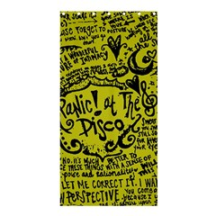 Panic! At The Disco Lyric Quotes Shower Curtain 36  X 72  (stall)  by Samandel