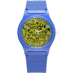 Panic! At The Disco Lyric Quotes Round Plastic Sport Watch (s) by Samandel