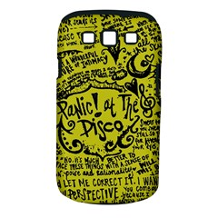 Panic! At The Disco Lyric Quotes Samsung Galaxy S Iii Classic Hardshell Case (pc+silicone) by Samandel