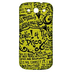 Panic! At The Disco Lyric Quotes Samsung Galaxy S3 S Iii Classic Hardshell Back Case by Samandel