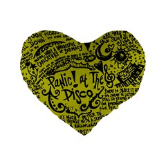 Panic! At The Disco Lyric Quotes Standard 16  Premium Heart Shape Cushions by Samandel