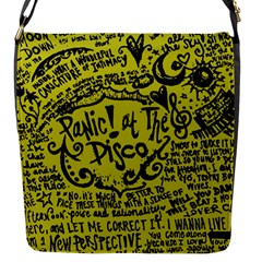 Panic! At The Disco Lyric Quotes Flap Messenger Bag (s)