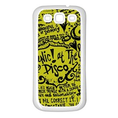Panic! At The Disco Lyric Quotes Samsung Galaxy S3 Back Case (white)