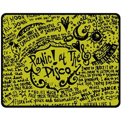 Panic! At The Disco Lyric Quotes Double Sided Fleece Blanket (medium)  by Samandel