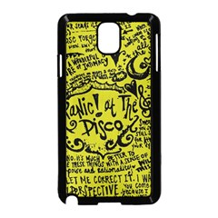 Panic! At The Disco Lyric Quotes Samsung Galaxy Note 3 Neo Hardshell Case (black) by Samandel