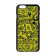 Panic! At The Disco Lyric Quotes Apple Iphone 6/6s Black Enamel Case by Samandel