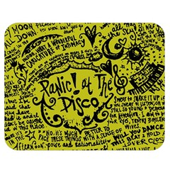 Panic! At The Disco Lyric Quotes Double Sided Flano Blanket (medium)  by Samandel