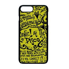 Panic! At The Disco Lyric Quotes Apple Iphone 7 Plus Seamless Case (black) by Samandel