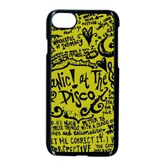 Panic! At The Disco Lyric Quotes Apple Iphone 8 Seamless Case (black) by Samandel
