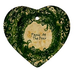 Panic At The Disco Ornament (heart) by Samandel