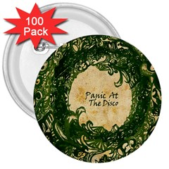 Panic At The Disco 3  Buttons (100 Pack)