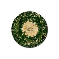 Panic At The Disco Rubber Round Coaster (4 Pack)  by Samandel