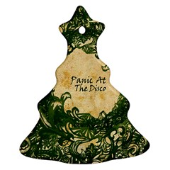 Panic At The Disco Christmas Tree Ornament (two Sides) by Samandel