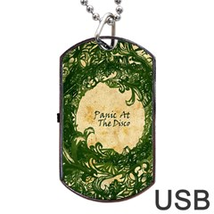 Panic At The Disco Dog Tag Usb Flash (two Sides) by Samandel