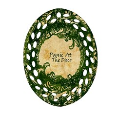 Panic At The Disco Oval Filigree Ornament (two Sides) by Samandel