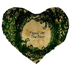 Panic At The Disco Large 19  Premium Heart Shape Cushions by Samandel