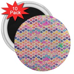Zigzag Flower Of Life Pattern2 3  Magnets (10 Pack)  by Cveti