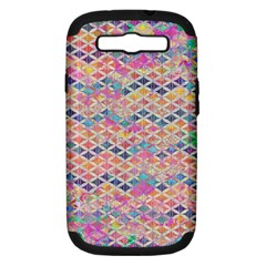 Zigzag Flower Of Life Pattern2 Samsung Galaxy S Iii Hardshell Case (pc+silicone) by Cveti