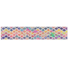 Zigzag Flower Of Life Pattern2 Large Flano Scarf  by Cveti