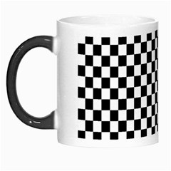 Checker Black And White Morph Mugs by jumpercat