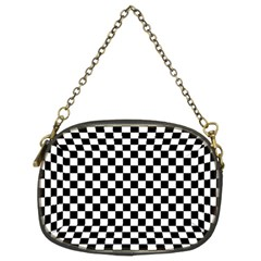 Checker Black And White Chain Purses (two Sides)  by jumpercat