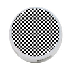 Checker Black And White 4 Port Usb Hub (one Side) by jumpercat