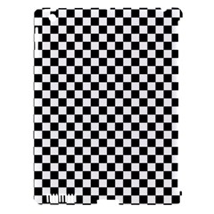 Checker Black And White Apple Ipad 3/4 Hardshell Case (compatible With Smart Cover) by jumpercat