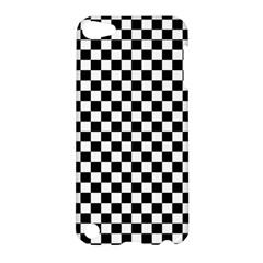 Checker Black And White Apple Ipod Touch 5 Hardshell Case by jumpercat