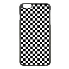 Checker Black And White Apple Iphone 6 Plus/6s Plus Black Enamel Case by jumpercat