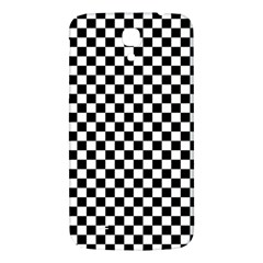 Checker Black And White Samsung Galaxy Mega I9200 Hardshell Back Case by jumpercat