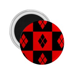 Red And Black Pattern 2 25  Magnets