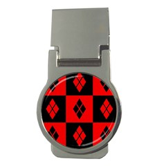 Red And Black Pattern Money Clips (round)