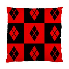 Red And Black Pattern Standard Cushion Case (two Sides)