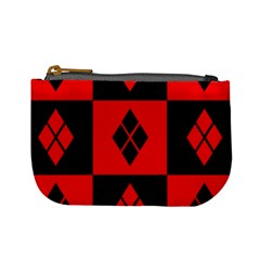 Red And Black Pattern Mini Coin Purses