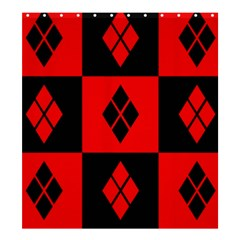 Red And Black Pattern Shower Curtain 66  X 72  (large)